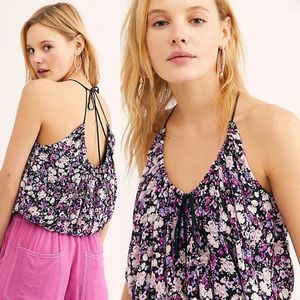 NEW Free People Daisy Babe Tank XS Floral Crop